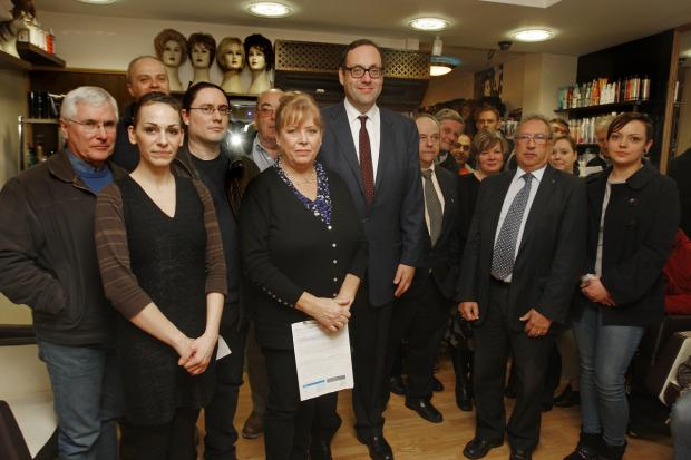Richard Harrington meeting concerned shop owners