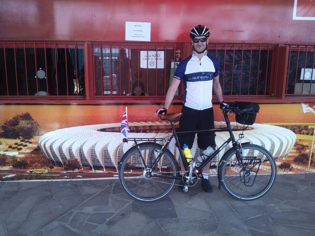 Oxhey man quits job for five-month World Cup stadium charity cycle