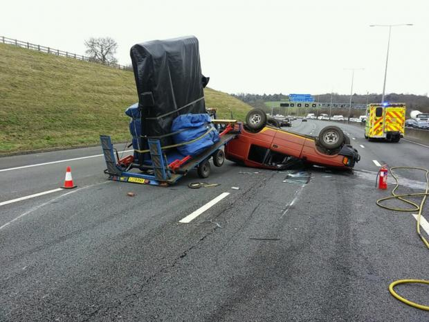 Lanes reopened on M25 following crash