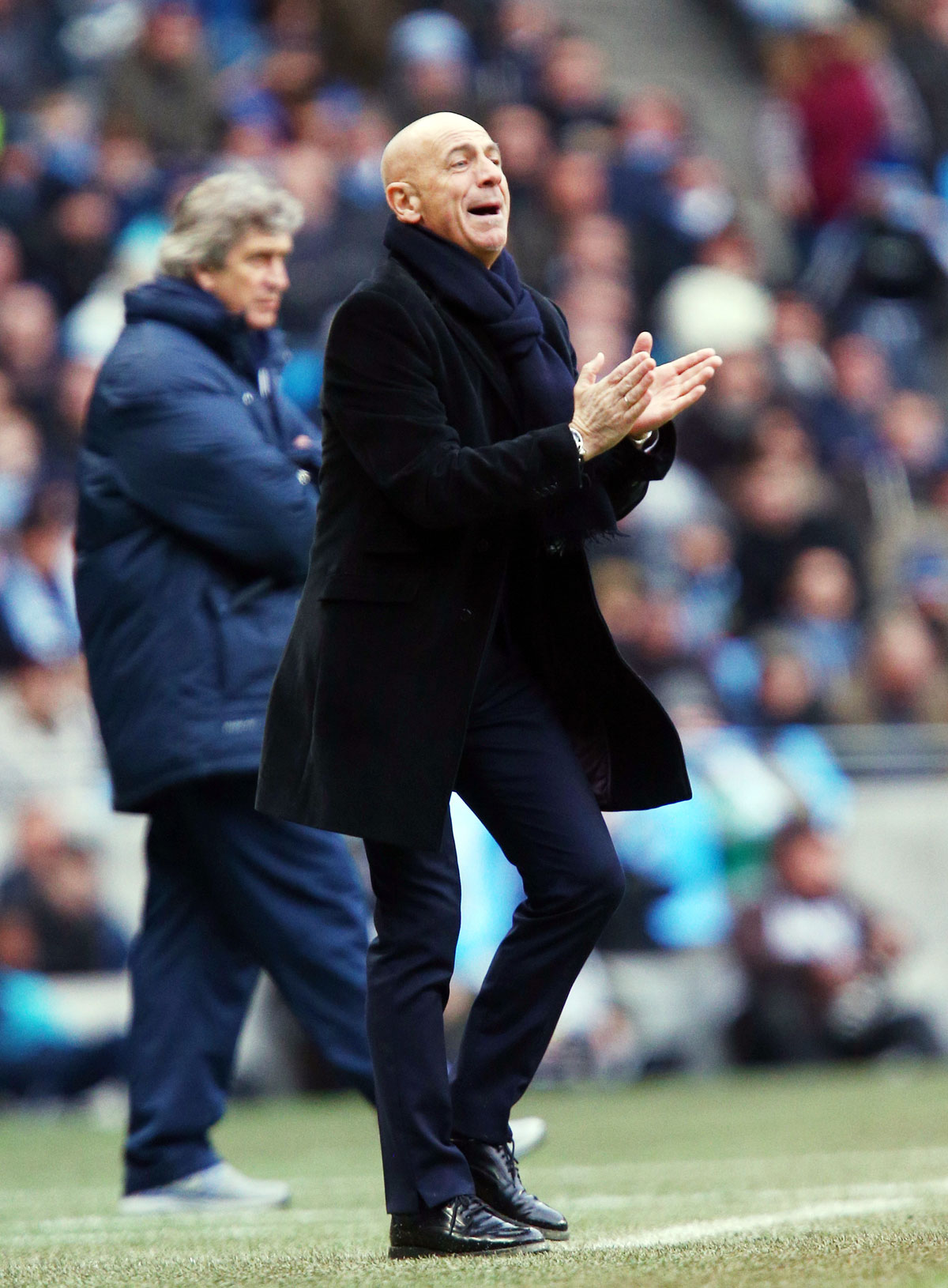 'I am used to seeing Manchester City on television': Beppe Sannino. Picture: Action Images