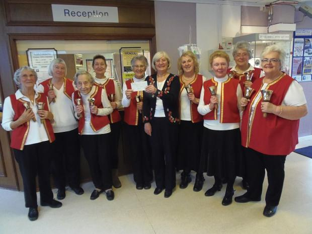 Bell ringers' fundraising effort contributes £2,400 to hospice