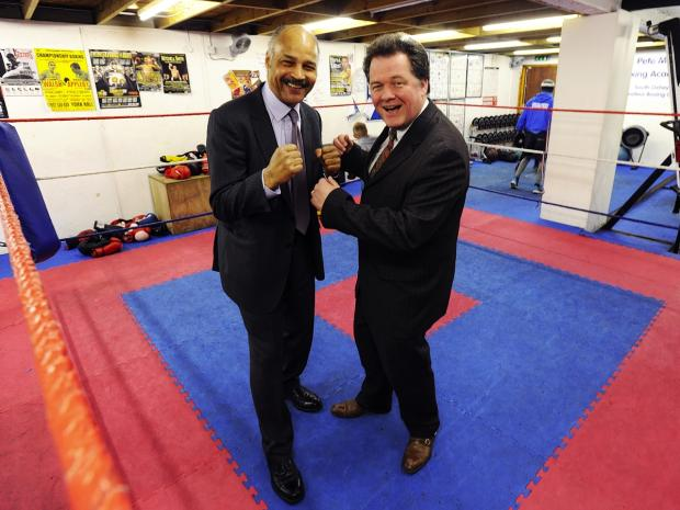 Police commissioner goes toe-to-toe with former world boxing champion