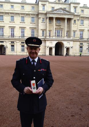 Roy Wilsher: 'proud to lead such an excellent fire service'