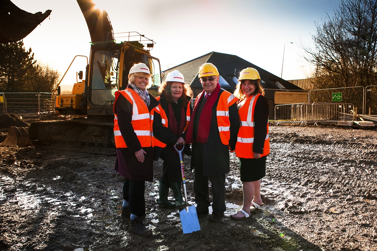 Tina Barnard, councillor Ann Shaw, councillor Les Mead and councillor Sarah Nelmes.