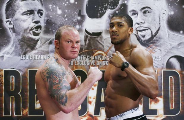 Watford Observer: Anthony Joshua and Dorian Darch