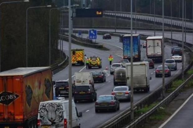 Two men died in the incident on the M1 on Thursday.