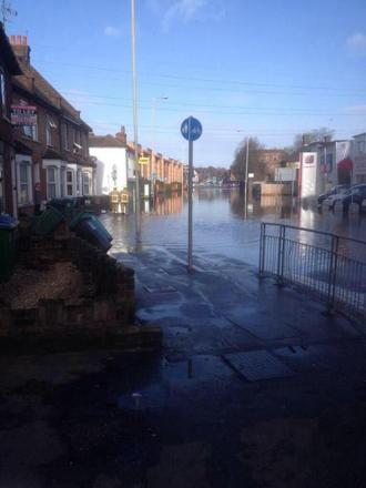 Widespread flooding in Watford