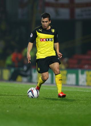 Cristian Battocchio's work rate and attitude has seen him become a fans' favourite at Watford. Picture: Holly Cant