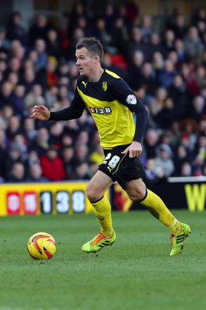 Daniel Tozser was voted Watford's man of the match against Birmingham City. Picture: Dave Peters