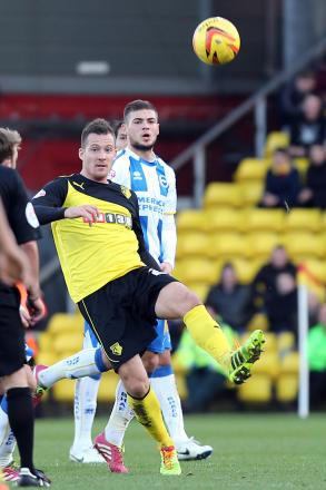 Could Daniel Tozser become the latest loanee to become a fan's favourite at Watford? Picture: Dave Peters