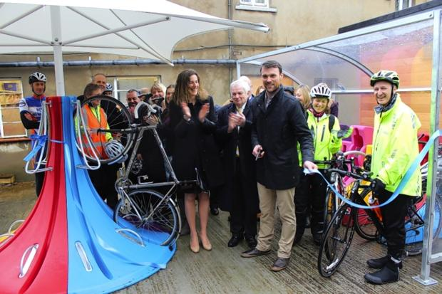 Olympic medallist unveils hospital's new cycling hub