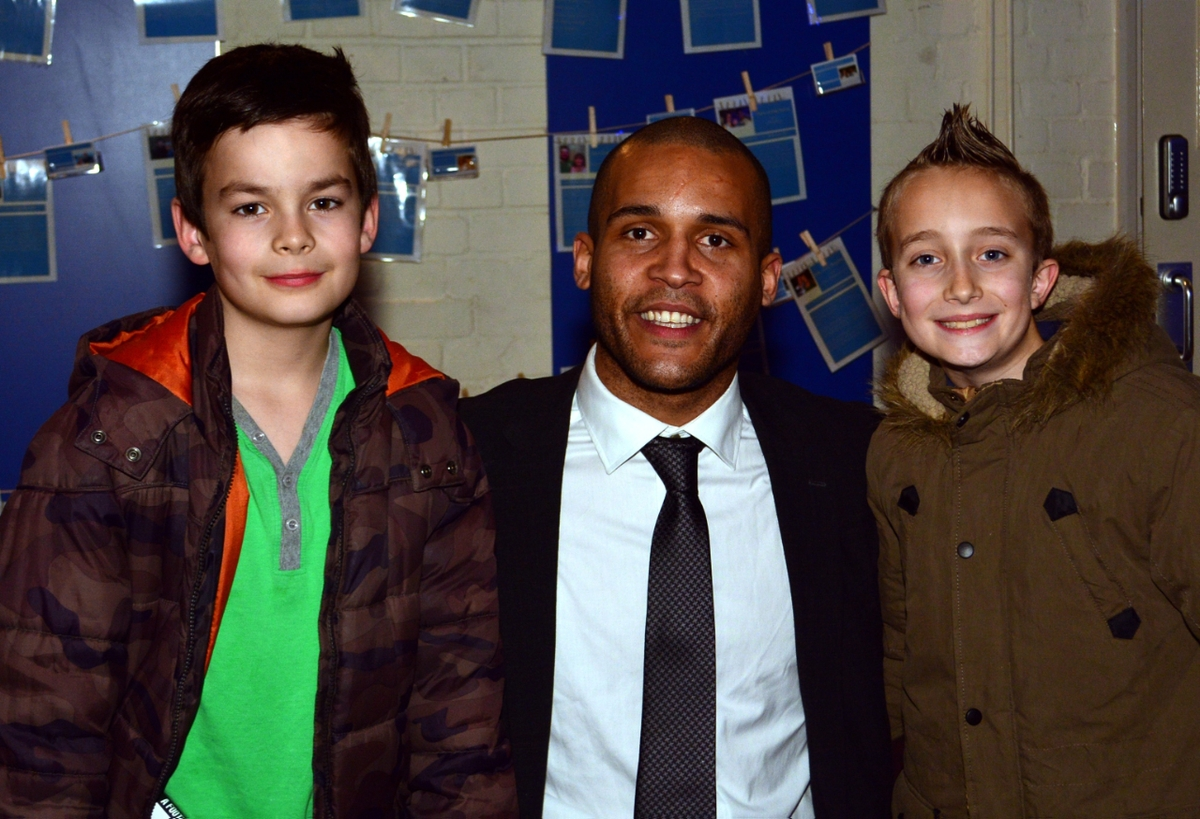 Young fans queued to get copies of Clarke Carlisle's autobiography,