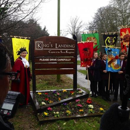 Kings Landing sign unveiled in village
