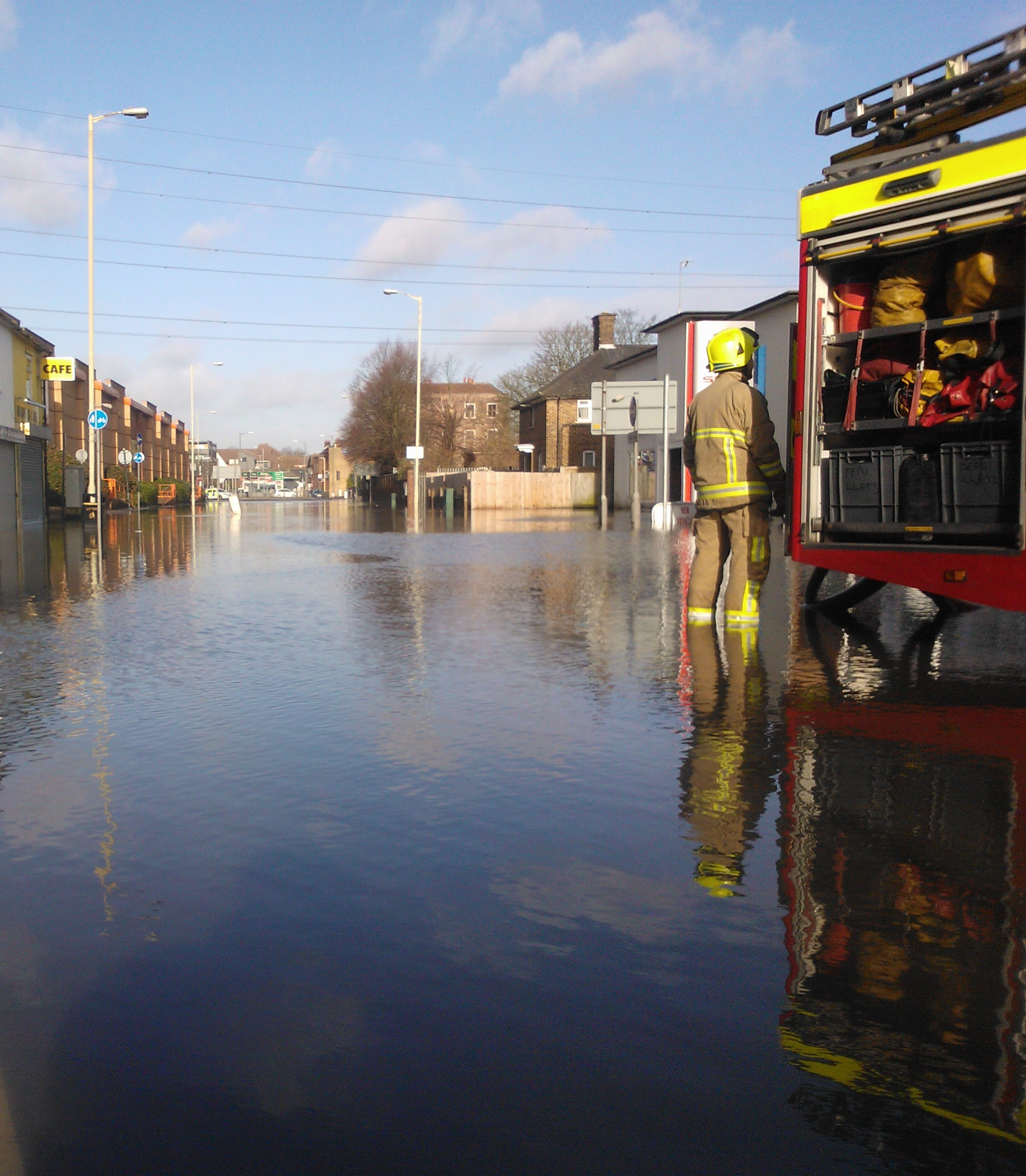 Roads still blocked by floods across south west Hertfordshire