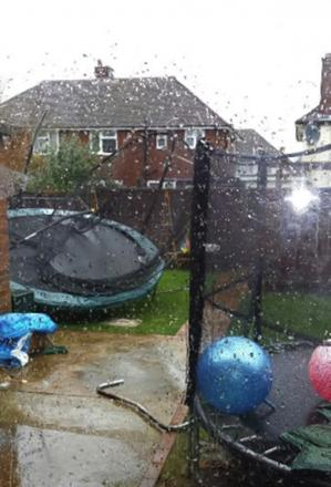 Wind sends trampoline flying into north Watford garden