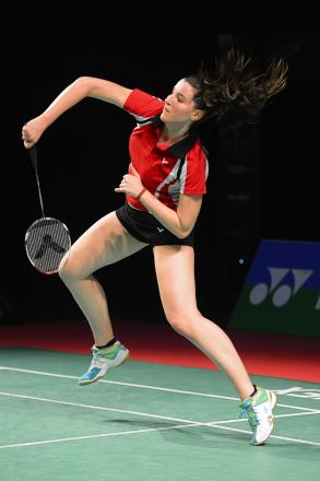 Radlett's Helena Lewczynska reached the last eight of the national badminton championships