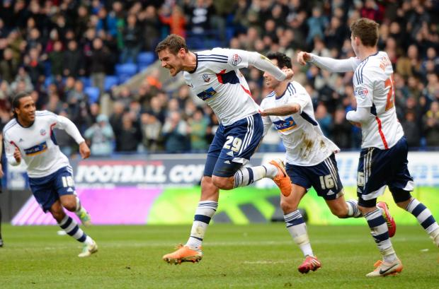 Lukas Jutkiewicz celebrating his goal. Picture: Action Images
