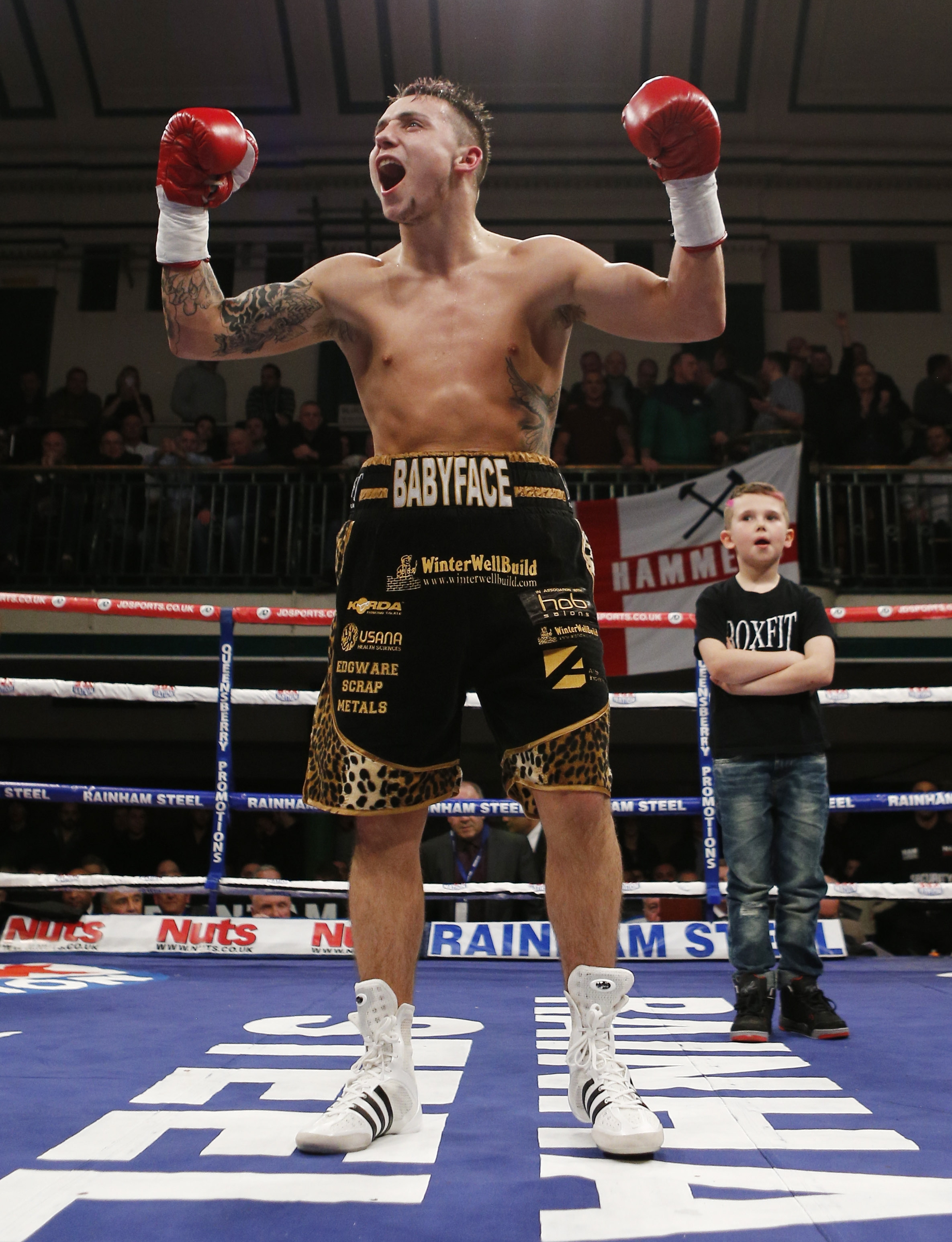 Mitchell Smith celebrating his victory on Saturday. Picture: Action Images
