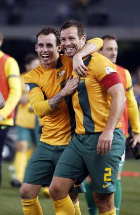 Australian skipper Lucas Neill, right. Picture: Action Images