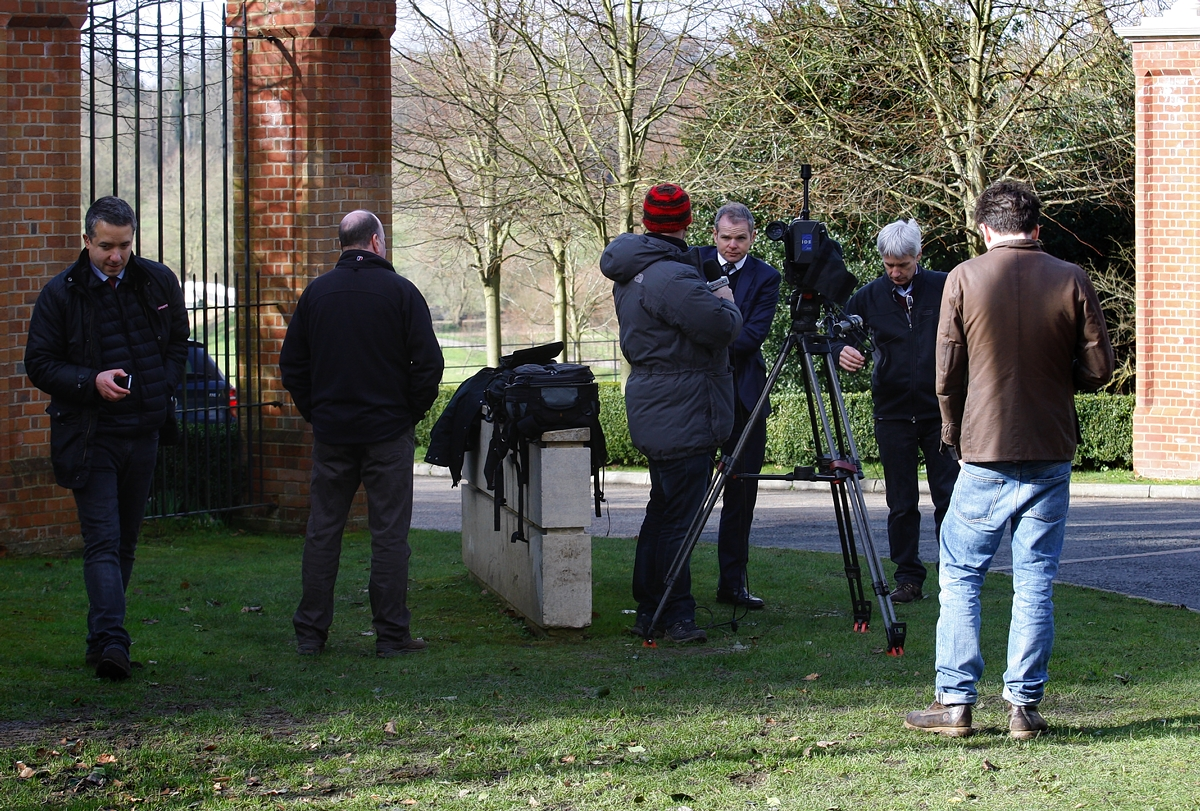 Media camp outside Watford Anelka FA hearing hotel