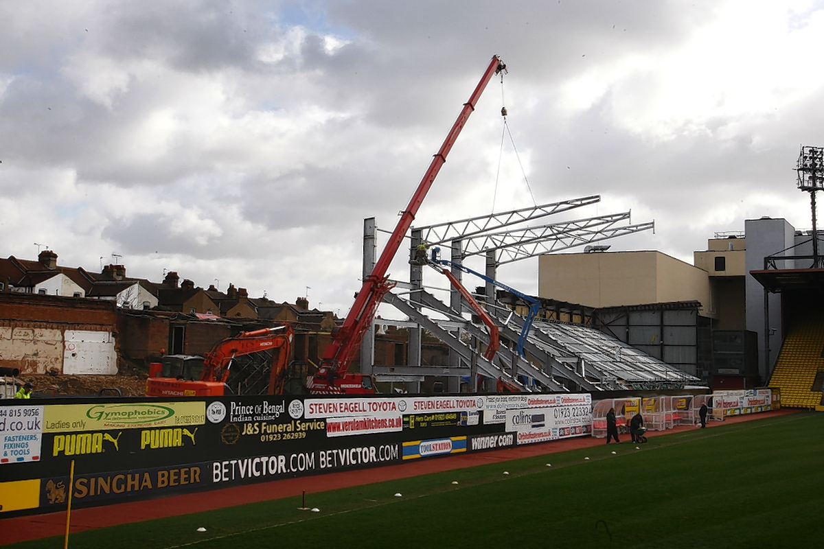The East Stand work is underway: Holly Cant