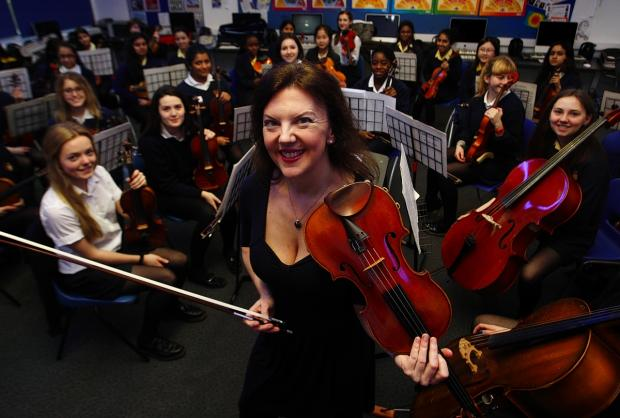 Music masterclass for Watford students during violinist's visit