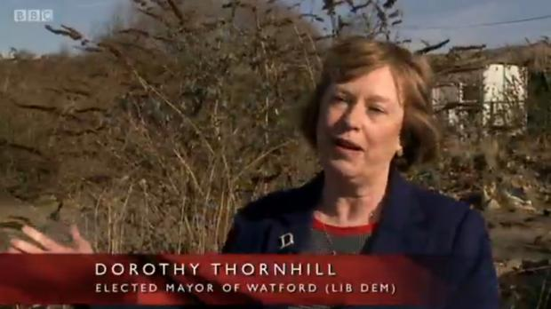 Watford mayor Dorothy Thornhill. Picture: BBC iPlayer.