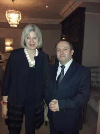 Home Secretary Theresa May visits Hertsmere