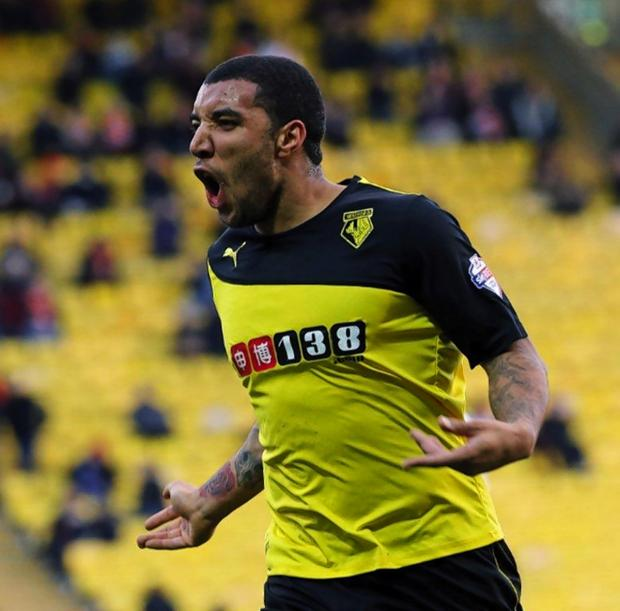 Troy Deeney scored 25 goals for Watford last season. Picture: Dave Peters.