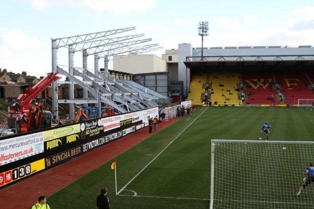 Watford Observer: Picture of the East Stand taken at the beginning of March. Picture: Dave Peters.