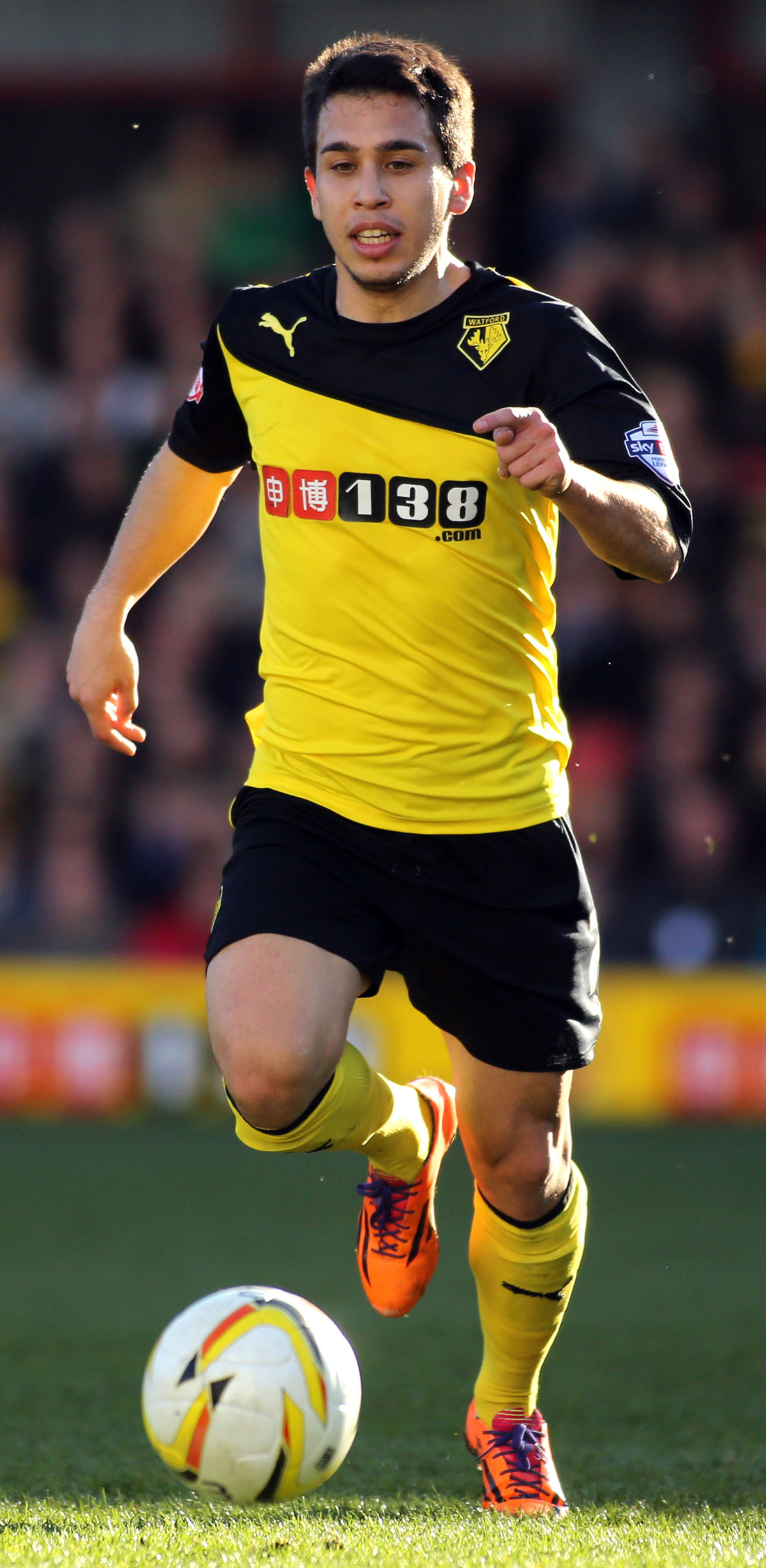Cristian Battocchio opened Watford's account. Picture: Action Images