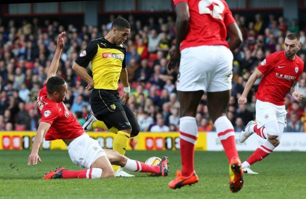"Watford Observer: Lewis McGugan admitted leaving Nottingham Forest was difficult but he has now ""come out of the other side"". Picture: Dave Peters"