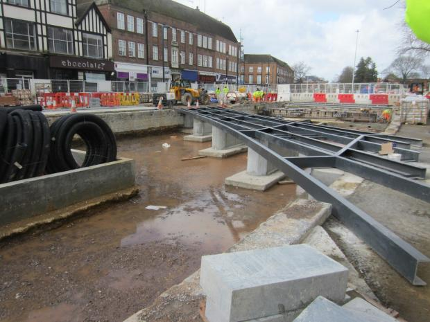 Work starts on bridge over Watford pond