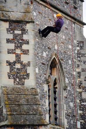 Join in with charity church abseil