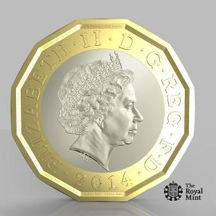Watford Observer: The new pound coin