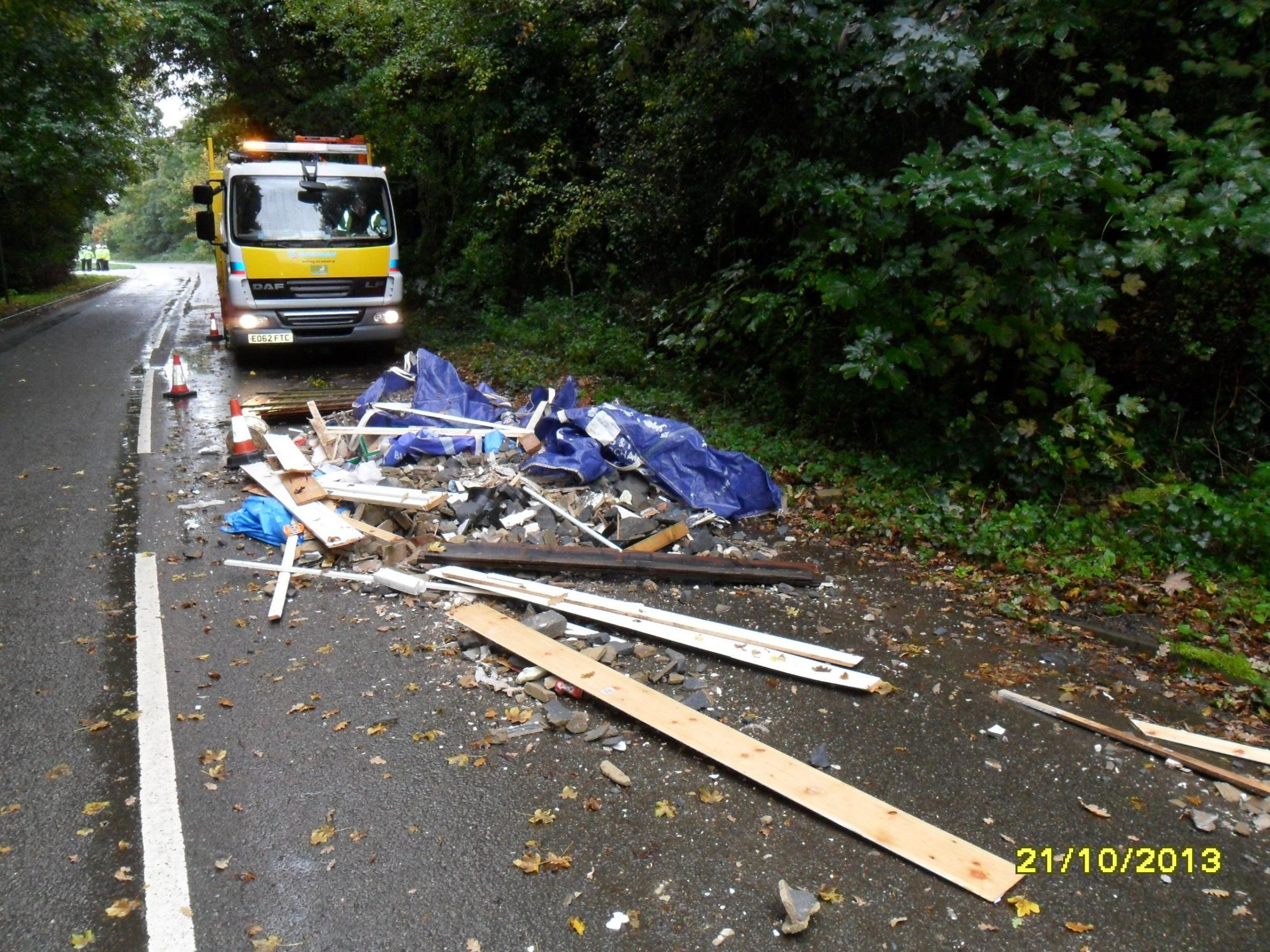 Bushey man fined after dumped waste blocked Aldenham street