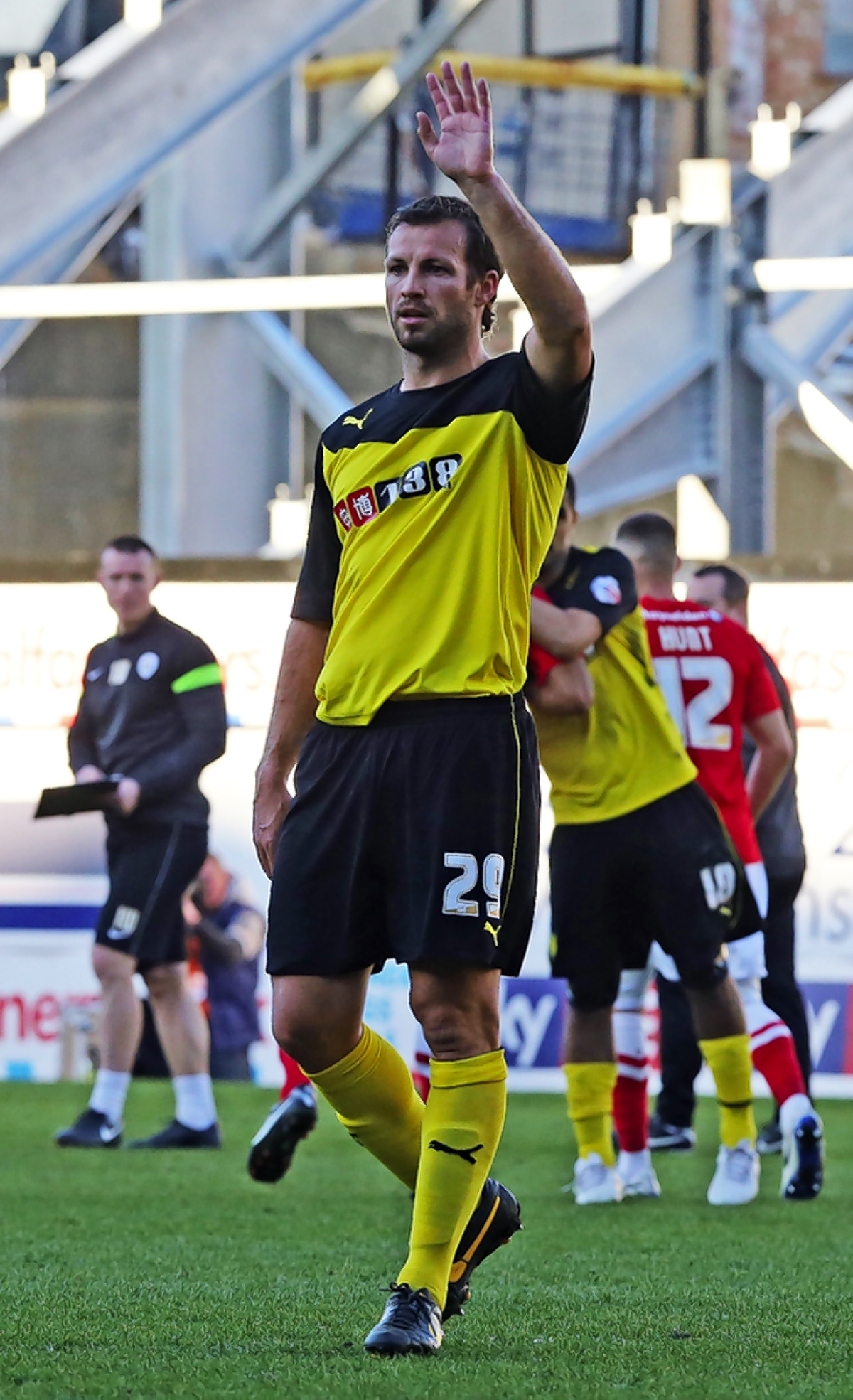 Lucas Neill's only Watford outing was as a 84th minute substitute against Barnsley. Picture: Dave Peters.