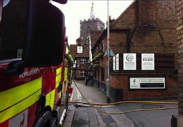 Watford Observer: From Rickmansworth Fire's twitter account @A07Fire