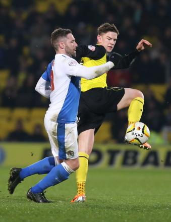 Sean Murray in action against Blackburn Rovers. Picture: Action Images