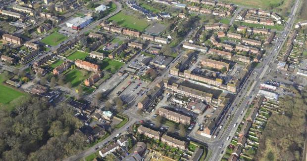 South Oxhey from the air
