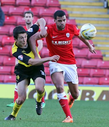 Luke O'Nien made his Watford debut against Barnsley in March. Picture: Dave Peters