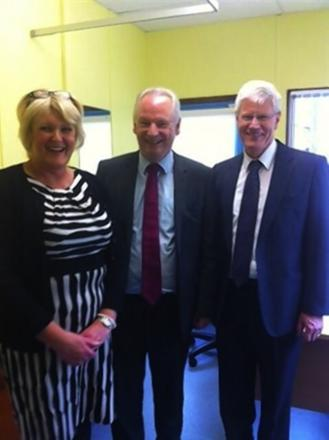 Meadowell managing director, Julie Madley, is pictured with The Minister for the Cabinet Office, Francis Maude MP (centre) and Meadowell founding GP Dr Tim Robson