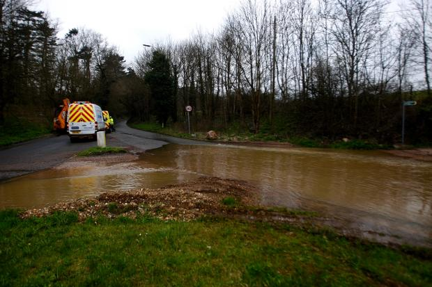 Engineers working to fix burst water main after water swamped Chorleywood road