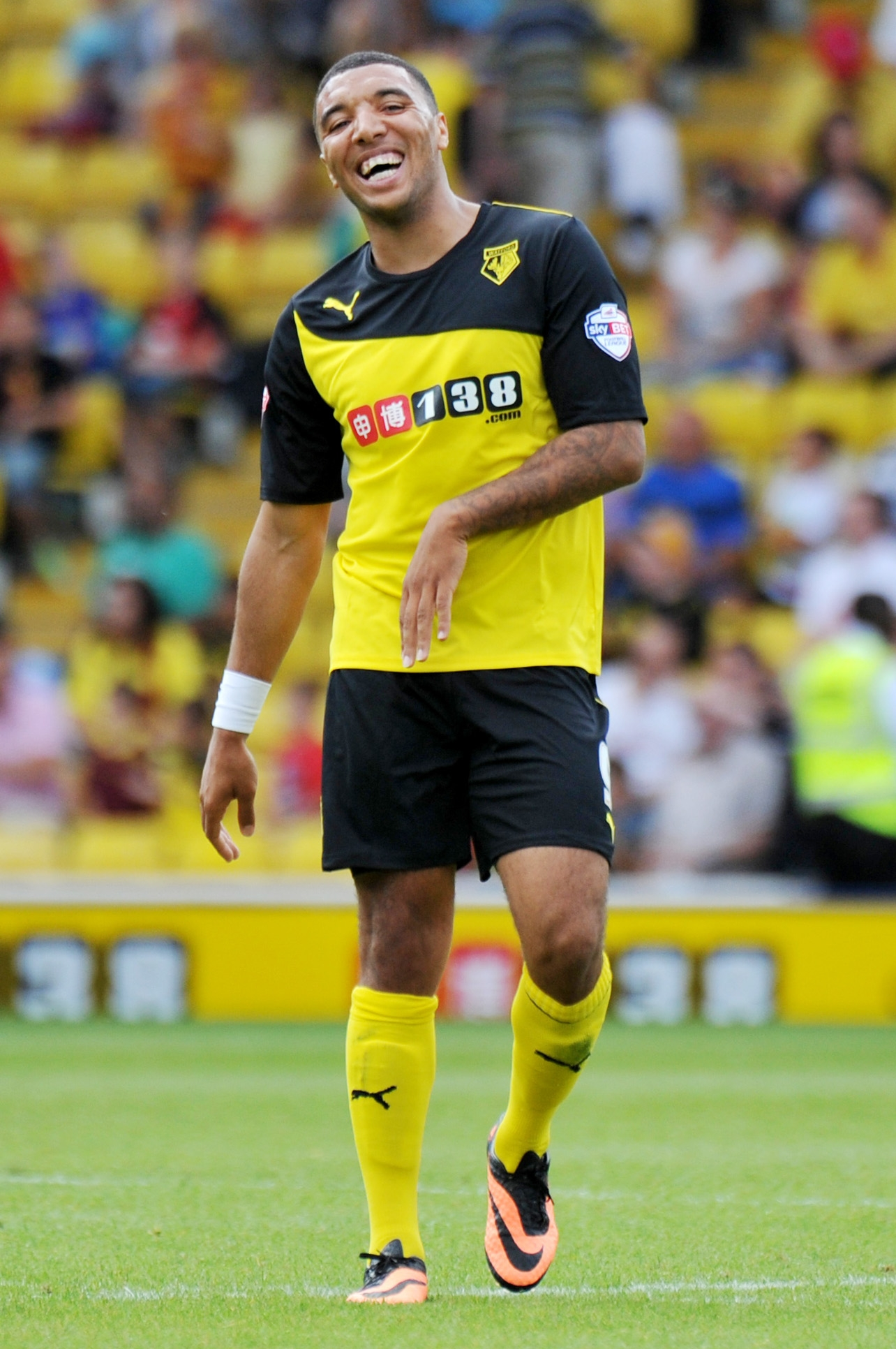 Beppe Sannino confirmed what many expected yesterday; that Troy Deeney is currently Watford's captain. Picture: Dave Peters.