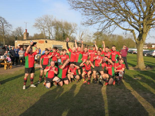 Fullerians Rugby Club's first team celebrate their victory