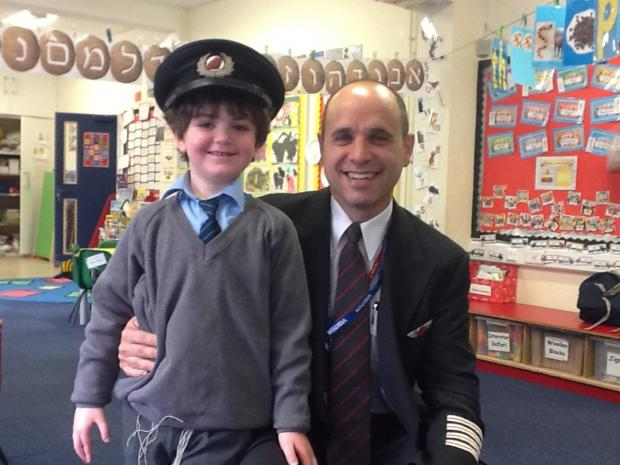 Bushey pupils visited by aeroplane pilot