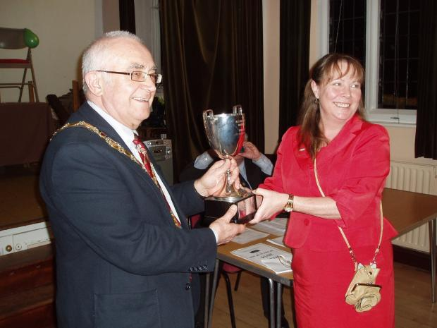 Chairman of TRDC Les Mead and Nina Hosking