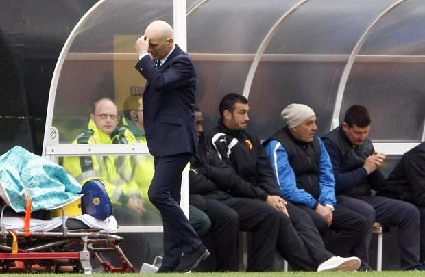 Frustrated again: Beppe Sannino. Picture: Holly Cant