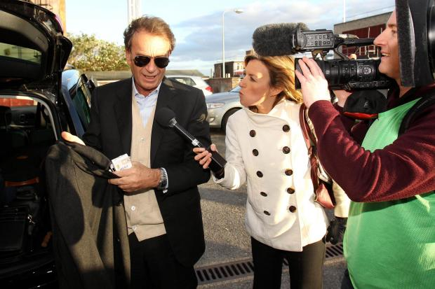 Massimo Cellino arriving at Vicarage Road last night. Picture: Action Images