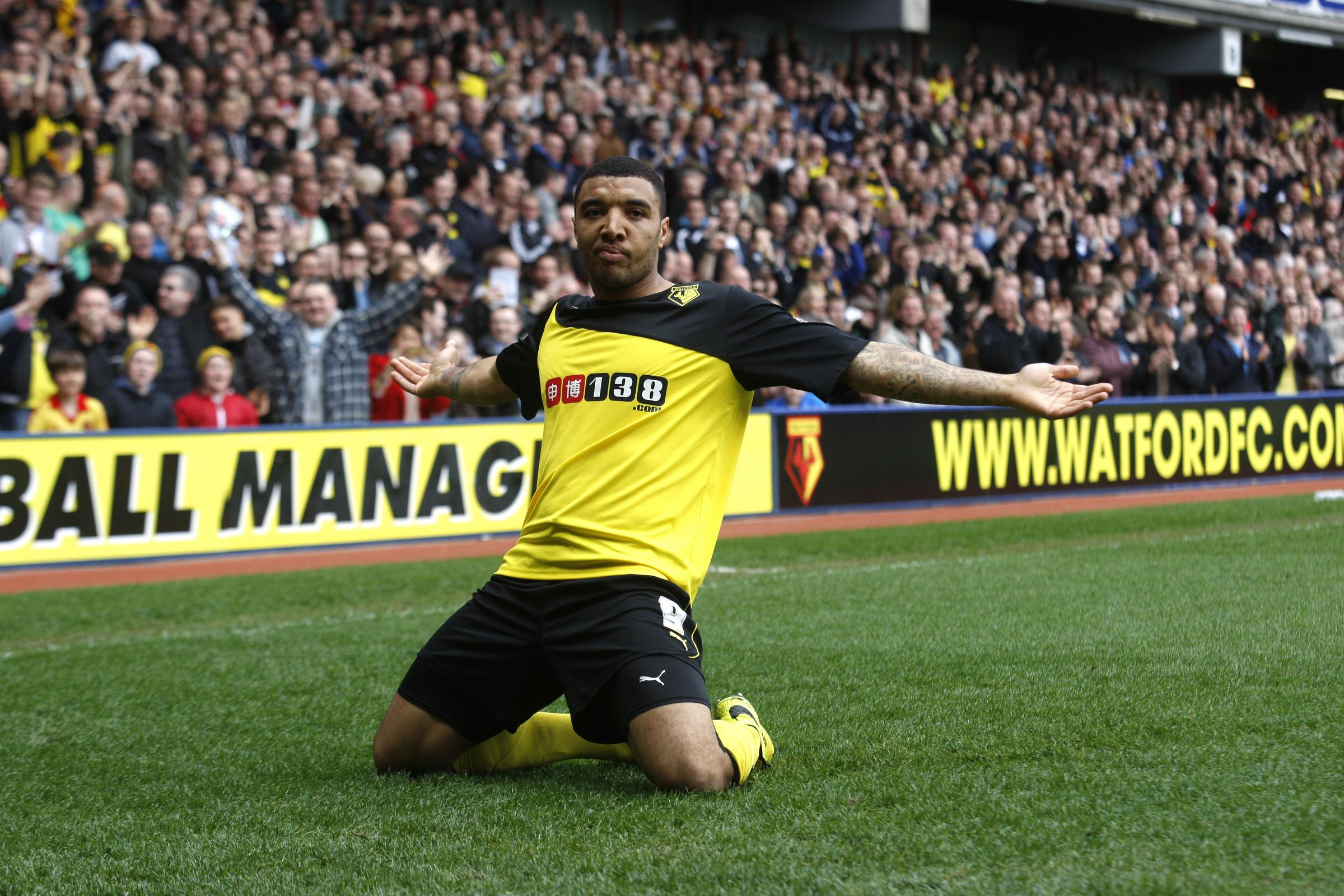 Watford Observer: Troy Deeney at the Watford FC ground in Vicarage Road